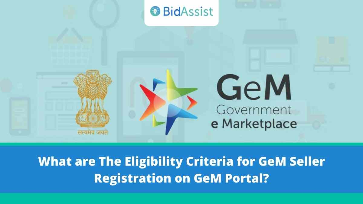 What are the Eligibility Criteria for GeM Seller Registration on GeM Portal?