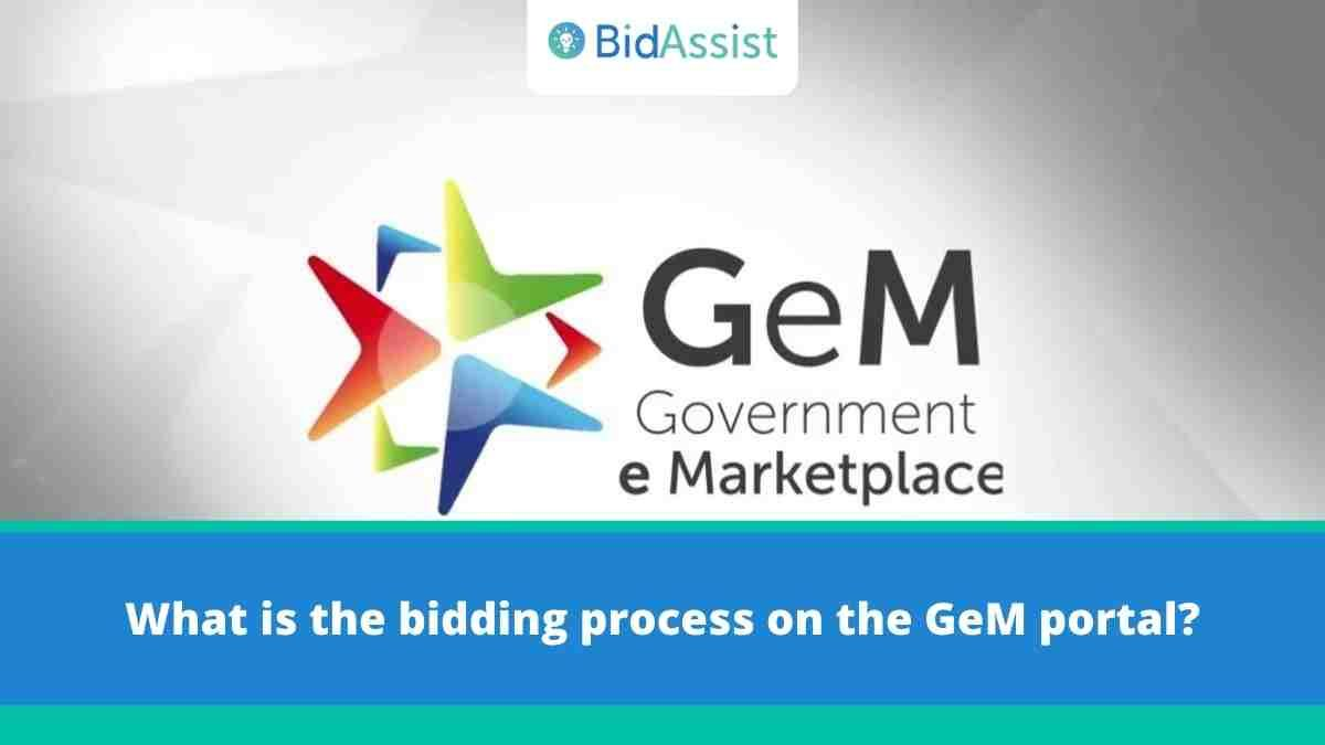 What is the bidding process on the GeM portal?